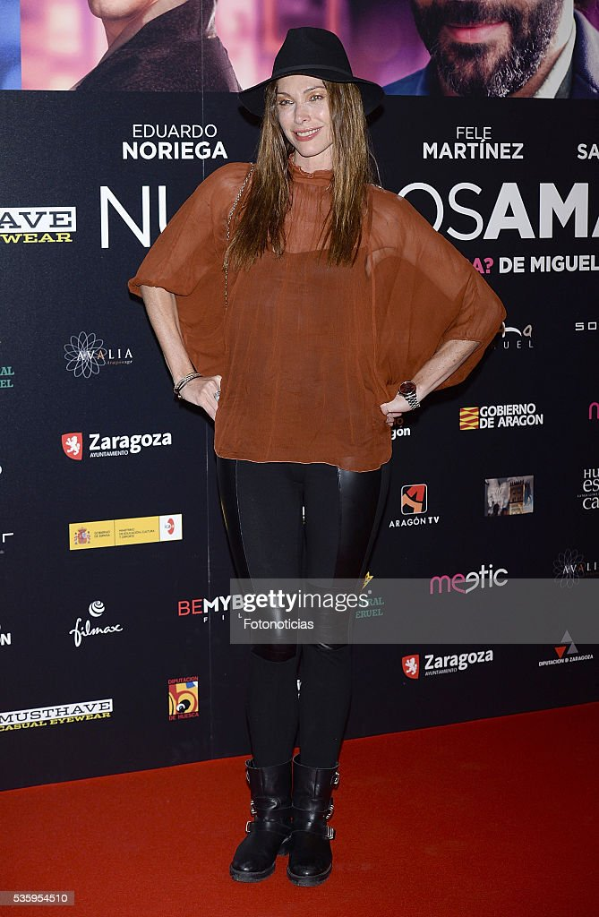 Cristina Piaget attends the 'Nuestros Amantes' premiere at Palafox cinema on May 30, 2016 in Madrid, Spain.