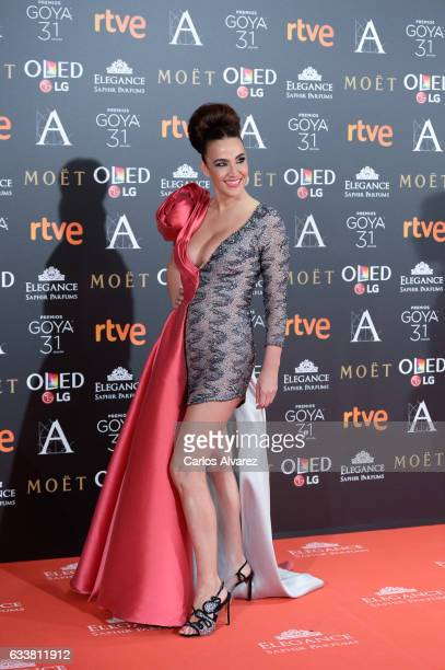 Cristina Rodriguez attends Goya Cinema Awards 2017 at Madrid Marriott Auditorium on February 4 2017 in Madrid Spain