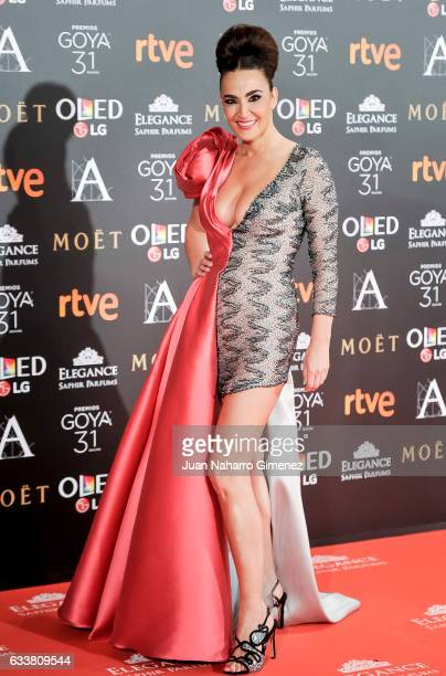 Cristina Rodriguez attends the 31st edition of the 'Goya Cinema Awards' ceremony at Madrid Marriott Auditorium on February 4 2017 in Madrid Spain