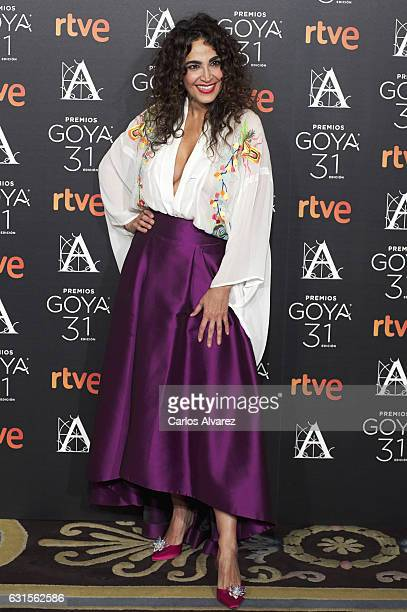 Cristina Rodriguez attends the Goya cinema awards candidates 2016 cocktail at the Ritz Hotel on January 12 2017 in Madrid Spain