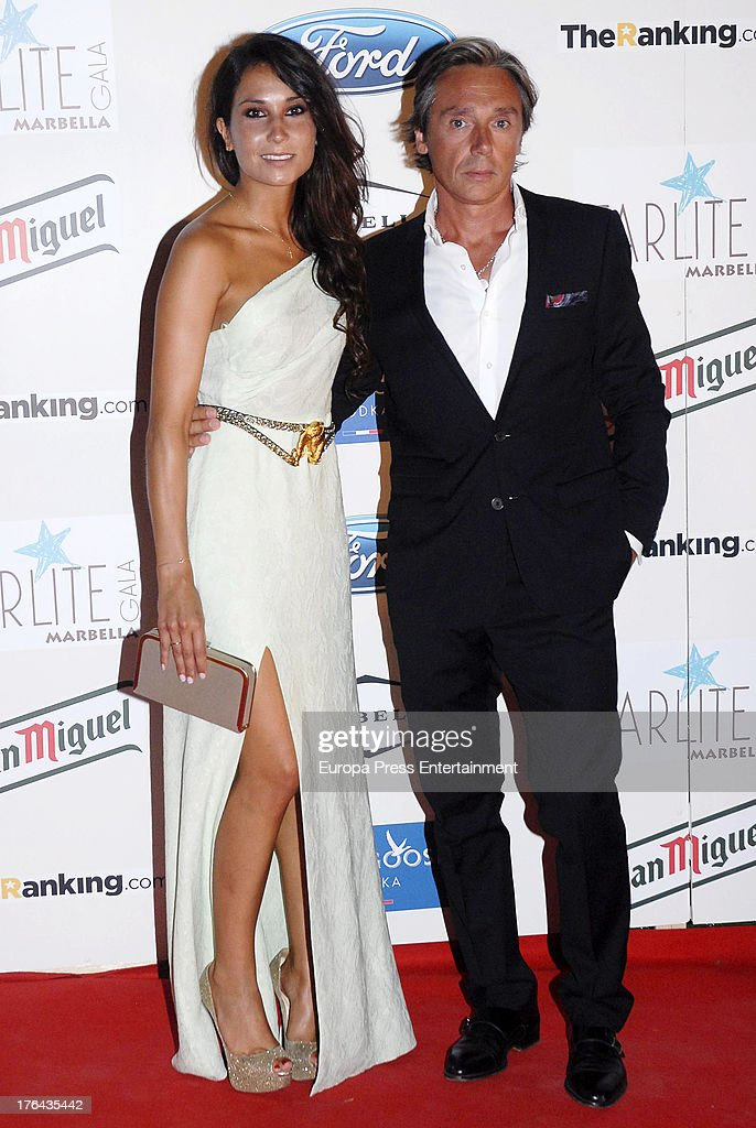 Cristina Sainz and Israel Bayon attend the 4rd annual Starlite Charity Gala on August 10, 2013 in Marbella, Spain.