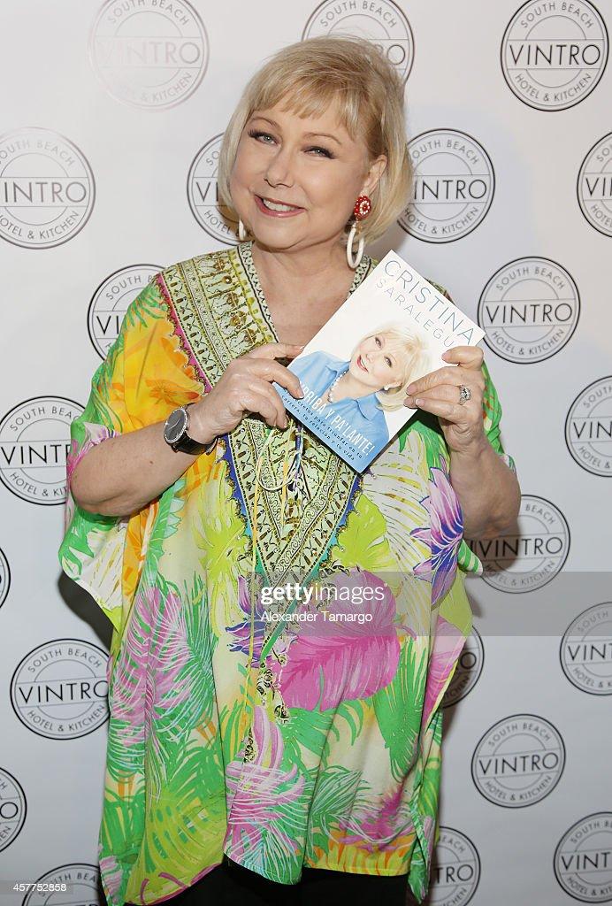 Cristina Saralegui attends her book launch at Vintro Hotel on October 23, 2014 in Miami, Florida.