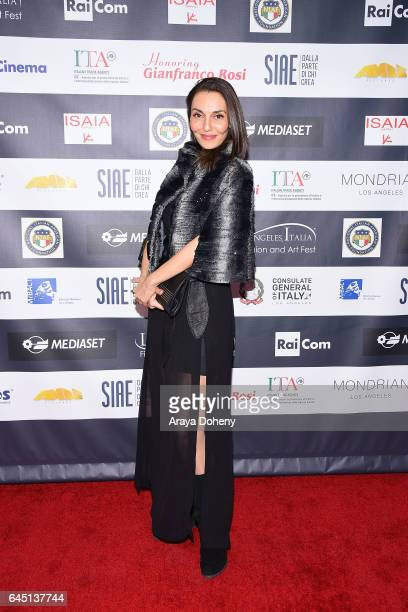 Cristina Serafini attends the 12th Edition of the Los Angeles Italia Film Fashion and Art Fest at TCL Chinese 6 Theatres on February 24 2017 in...