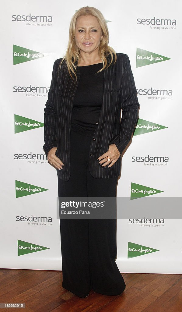 Cristina Tarrega attends genital rejuvenation gel 'Nanocare' press conference at El Corte Ingles store on October 23, 2013 in Madrid, Spain.
