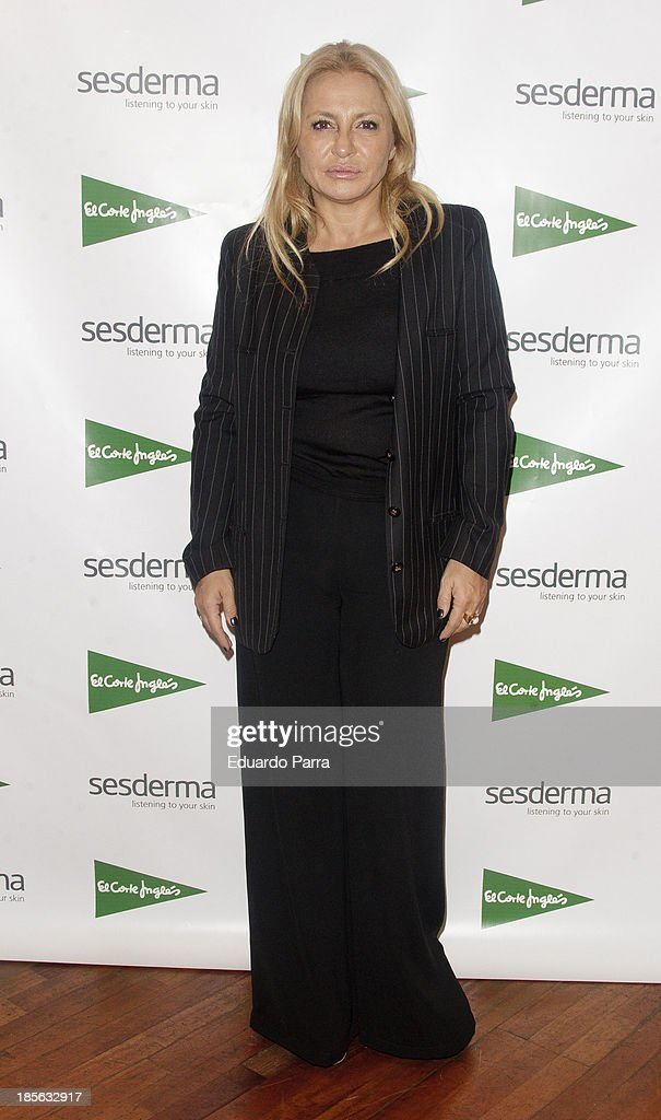 Cristina Tarrega attends genital rejuvenation gel 'Nanocare' press conference at El Corte Ingles store on October 23, 2013 in Madrid, Spain.