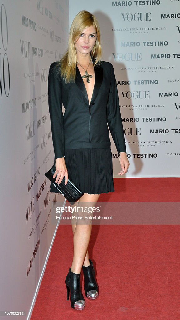 Cristina Tosio attends Vogue Magazine December issue launch party at Fernan Nunez Palace on November 27, 2012 in Madrid, Spain.