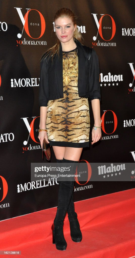 Cristina Tosio attends 'Yo Dona' magazine mask party on February 18, 2013 in Madrid, Spain.