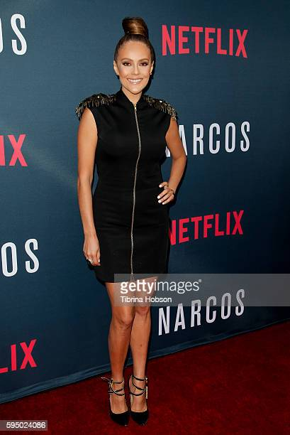 Cristina Umana attends the premiere of Netflix's 'Narcos' season 2 at ArcLight Cinemas on August 24 2016 in Hollywood California