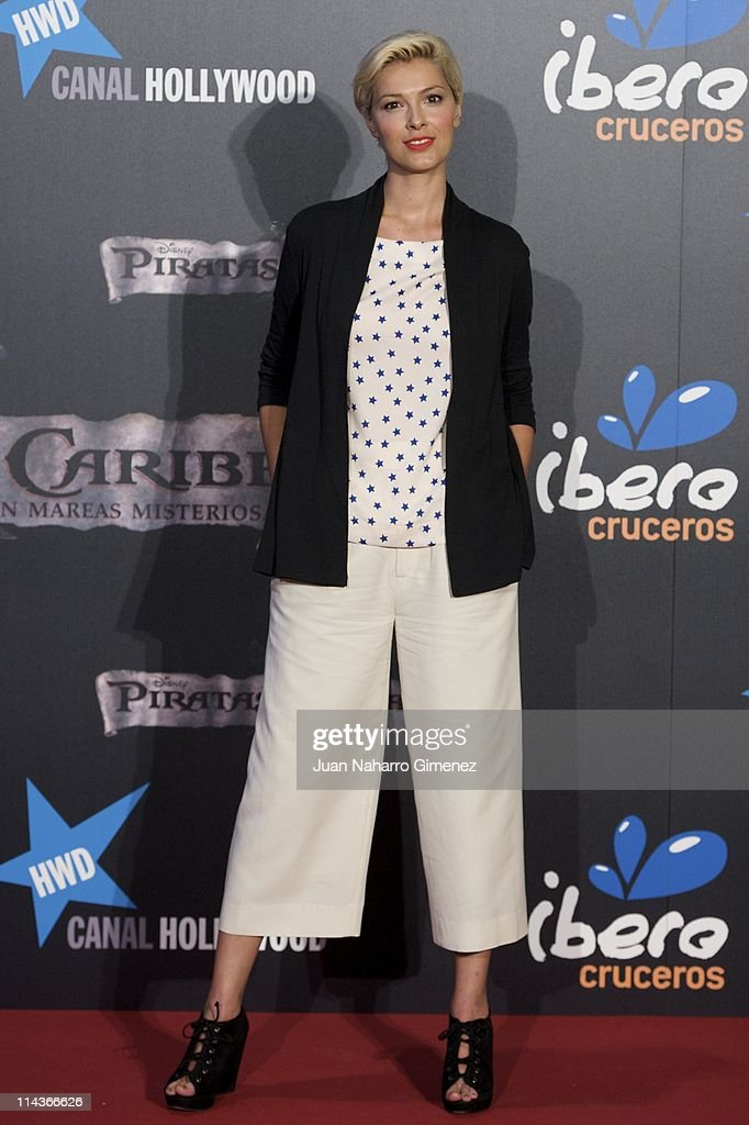 Cristina Urgel attends 'Pirates Of The Caribbean: On Stranger Tides' (Piratas del Caribe: en Mareas Misteriosas) premiere at Kinepolis Cinema on May 18, 2011 in Madrid, Spain.