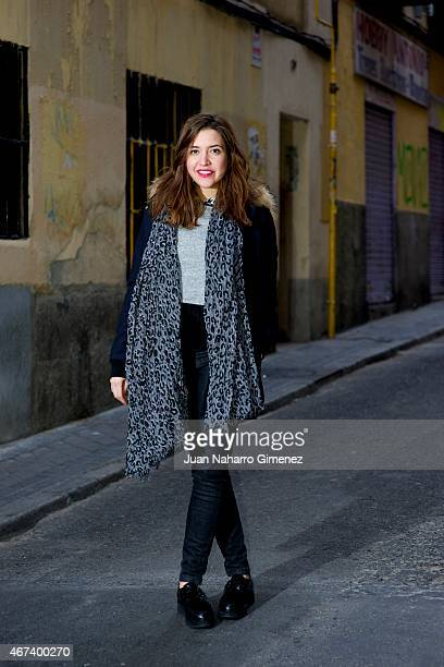 Cristina wears Flavio Menorca shoes Chafor trousers Topshop sweater Louis Vuitton scarf Maje jacket Acosta handbag and Small Affaire ring on March 23...