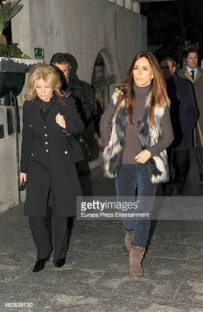Cristina Yanes and Lidya Bosch attend the funeral chapel for Victoriano Cuevas at M30 Morgue on December 23 2014 in Madrid Spain
