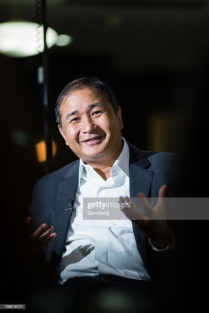Cristino Naguiat, chairman of the Philippine Amusement & Gaming Corp., gestures as he speaks during an interview in Manila, the Philippines, on Tuesday, Jan. 15, 2013. Annual revenue from gaming may rise to $10 billion in 2017 once Manila's Entertainment City is fully operational, Naguiat said. Photographer: Julian Abram Wainwright/Bloomberg via Getty Images