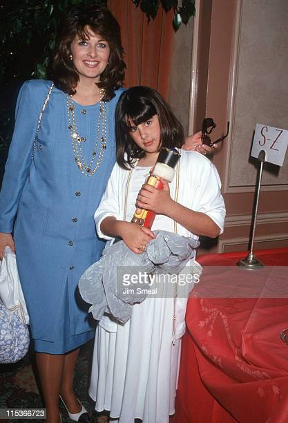 Cristne Ferarre and daughter Kathryn during 6th Annual Celebrity MotherDaughter Fashion Show at Beverly Hilton Hotel in Beverly Hills California...