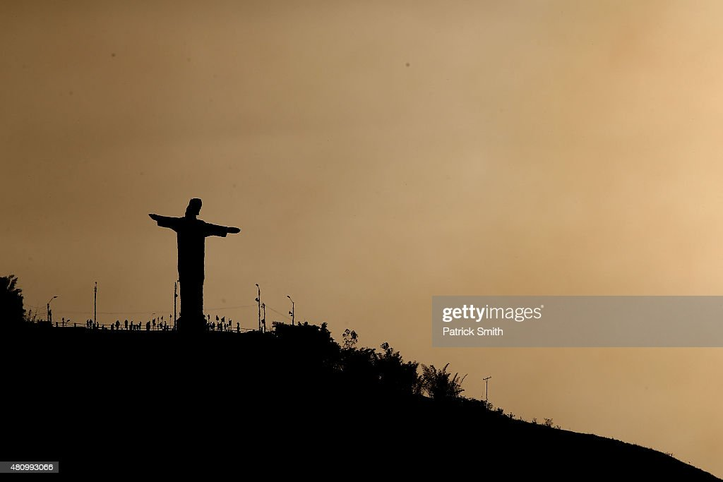 Cristo Rey is seen on day two of the IAAF World Youth Championships Cali 2015 on July 16 2015 at the Pascual Guerrero Olympic Stadium in Cali Colombia