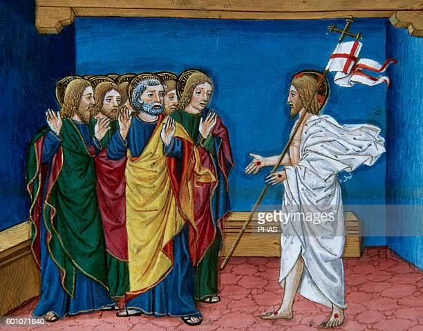 Cristoforo de Predis Italian miniaturist Miniature depicting Jesus showing to the disciples his hands and his side In Stories of Saint Joachim Saint...