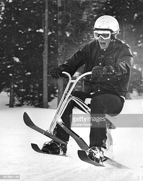 JAN 22 1970 JAN 24 1970 JAN 25 1970 Crites From Chadron Neb tries a jump down Brook runand he was unsuccessful Skiing purists look down on skibobbing...