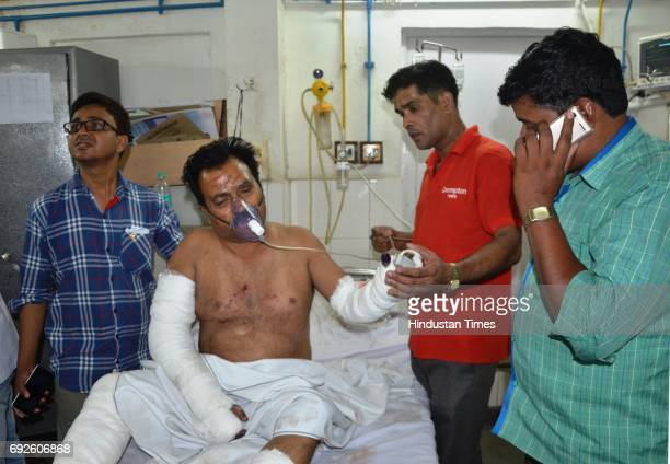 Critically injured passengers undergoing treatment at a hospital on June 5 2017 in Bareilly India Twentytwo people have been reported dead and 19...