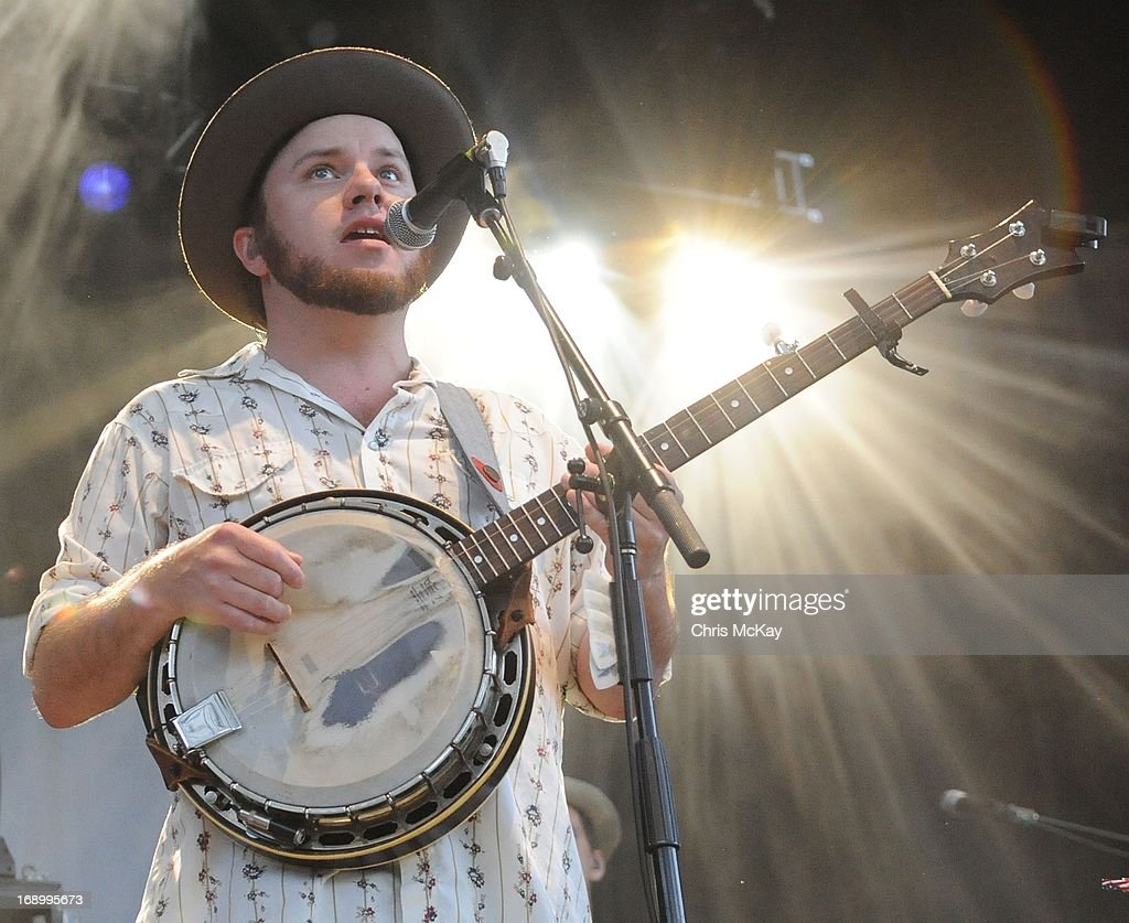 Critter Fuqua of Old Crow Medicine Show performs at Verizon Wireless Amphitheater on May 17, 2013 in Alpharetta, Georgia.