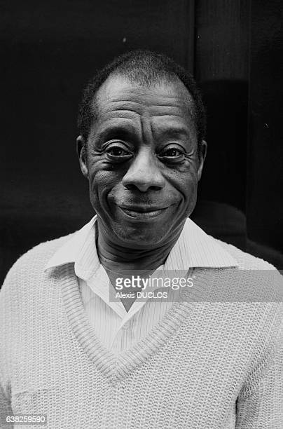 L'écrivain américain James Baldwin à Paris France le 13 septembre 1985