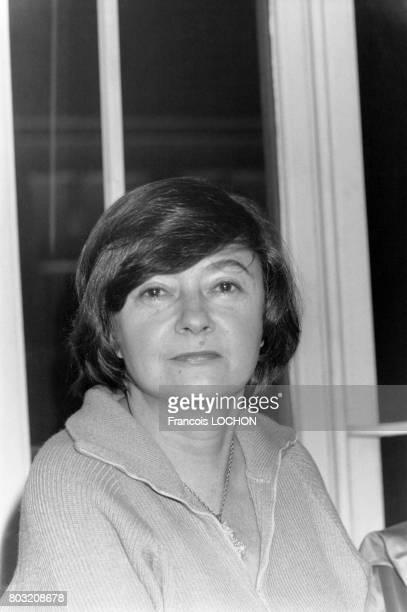 L'écrivain Françoise Paturier à la vente annuelle des livres au Palais de Chaillot à Paris France le 2 décembre 1978