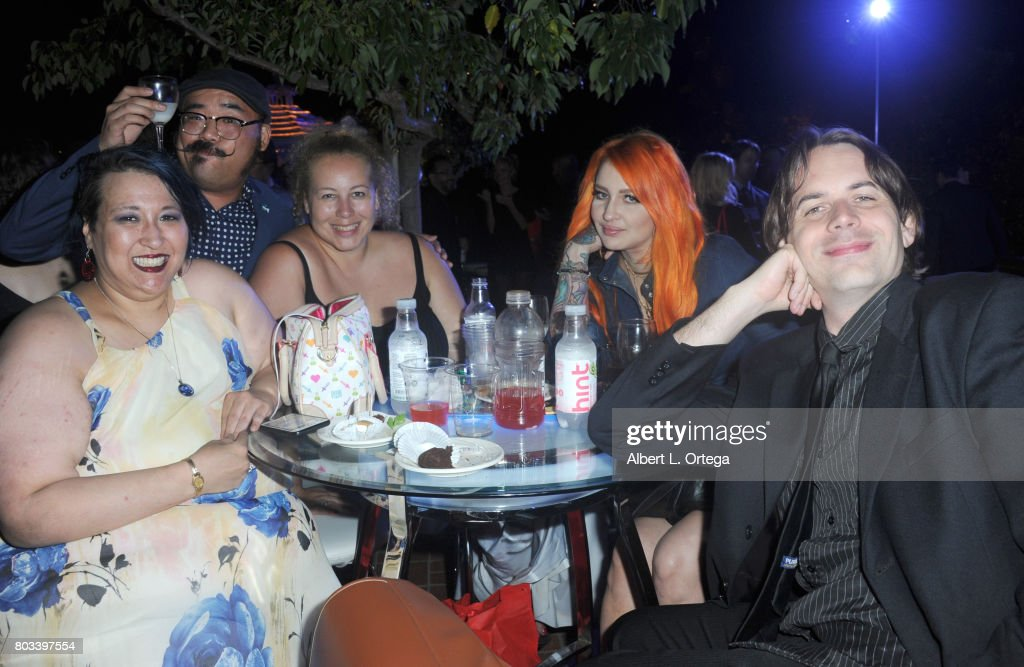 Crix Lee, Michael Pao, Anastasia Washington, Melissa Howland and Andrew Kasch attend the 43rd Annual Saturn Awards - After Party held at The Castaway on June 28, 2017 in Burbank, California.
