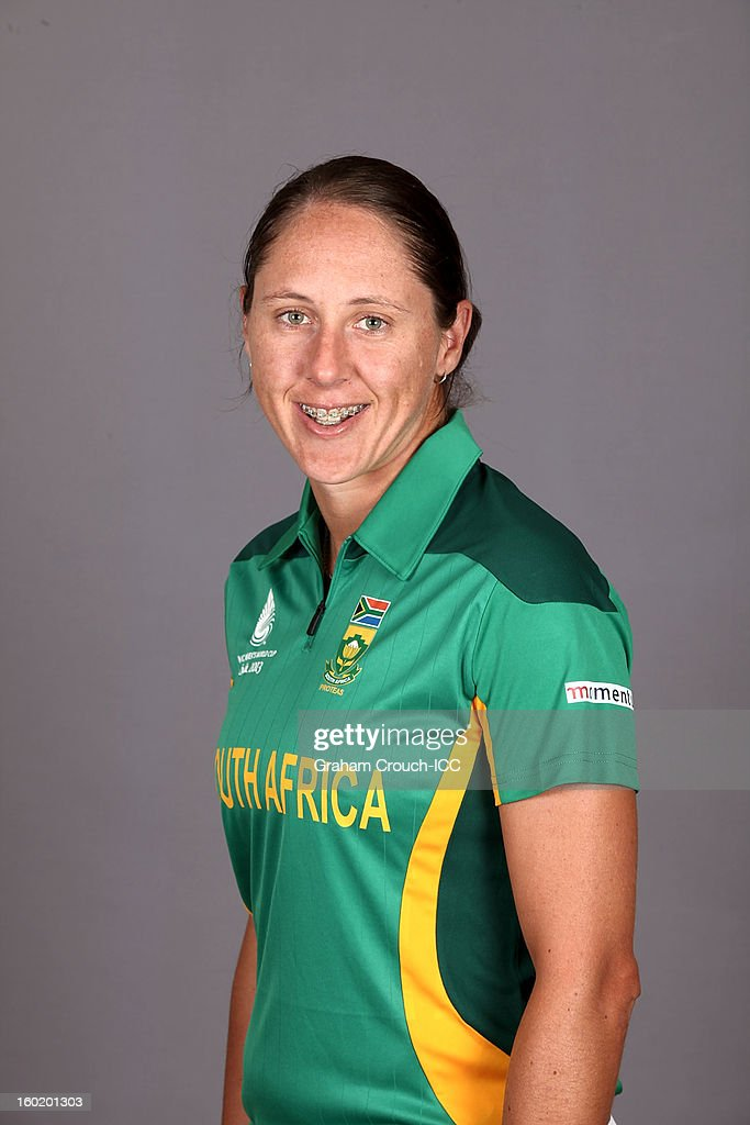 Cri-Zelda Brits of South Africa poses at a portrait session ahead of the ICC Womens World Cup 2013 at the Taj Mahal Palace Hotel on January 27, 2013 in Mumbai, India.