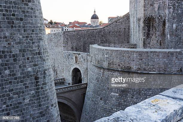 Croatia, Dubrovnik, view at part of city wall