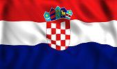 croatia flag waving in the wind