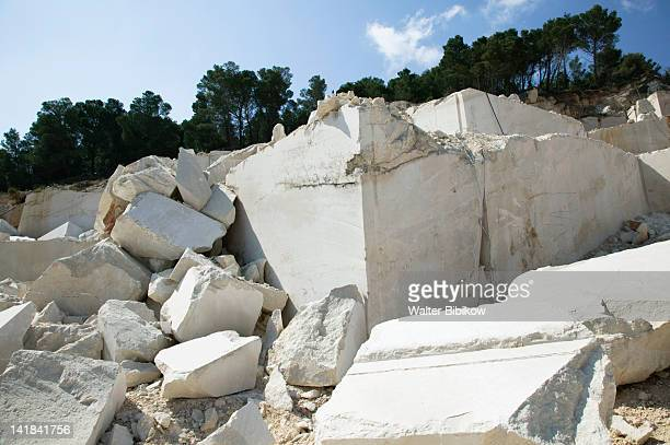 CROATIA-Central Dalmatia-BRAC ISLAND-NEREZISCA: Quarry of BRAC's famous white stone used to build USA White House