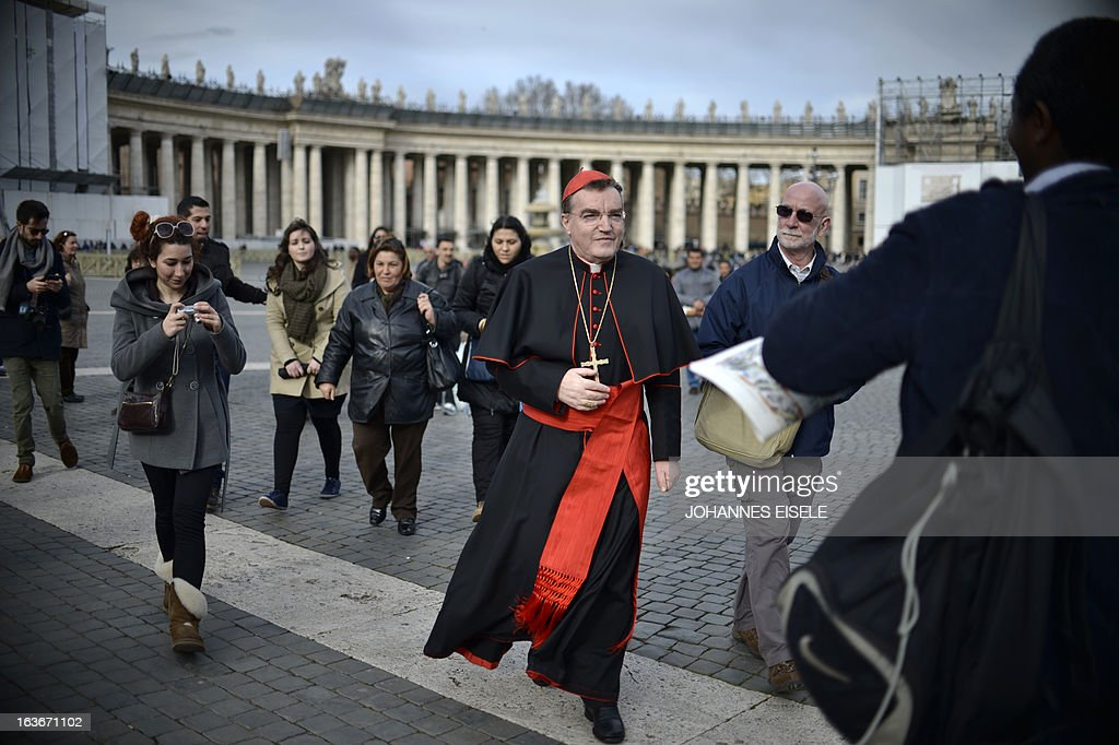 Croatian cardinal Josip Bozanic walks on St Peter's square on March 14, 2013 at the Vatican, a day after the election of the new pope. Argentina's Jorge Mario Bergoglio was elected Pope Francis yesterday, becoming the first Latin American pontiff in an astonishing decision that raises hopes of greater openness for the troubled Catholic Church.