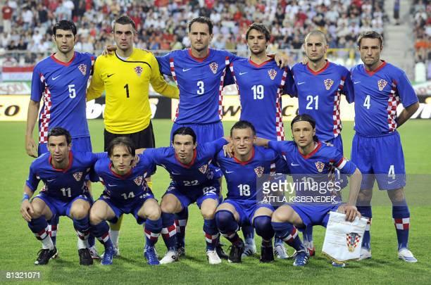 Croatian national football team players Dario Srna Luka Modric Danijel Pranjic Ivica Olic and Niko Kovac Vedran Corluka Stipe Pletikosa Josip Simunic...