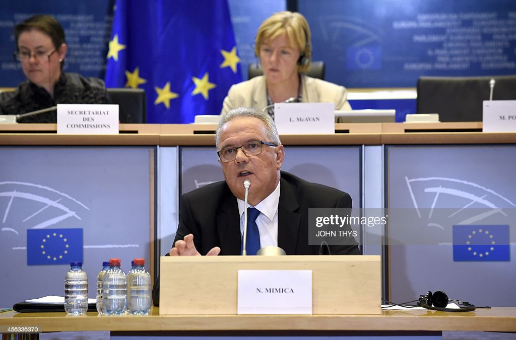Croatian Neven Mimica EU Commissioner designate for International Cooperation and Development faces his hearing by the European Parliament in...