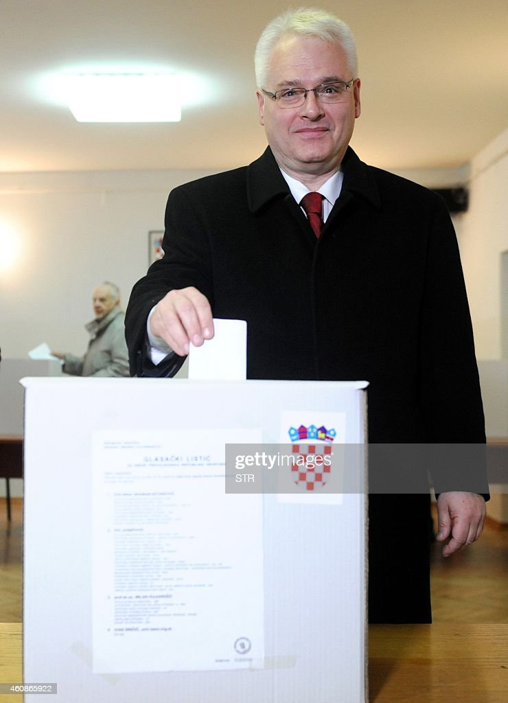 Croatian President <a gi-track='captionPersonalityLinkClicked' href=/galleries/search?phrase=Ivo+Josipovic&family=editorial&specificpeople=6599425 ng-click='$event.stopPropagation()'>Ivo Josipovic</a> casts his vote at a polling station in Zagreb, Croatia, 28 December 2014. Croatians went to the polls to elect a president under the cloud of a deep economic crisis, with incumbent <a gi-track='captionPersonalityLinkClicked' href=/galleries/search?phrase=Ivo+Josipovic&family=editorial&specificpeople=6599425 ng-click='$event.stopPropagation()'>Ivo Josipovic</a> seen as the frontrunner as he sought a second term leading the EU's newest member state.