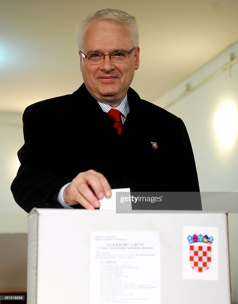 Croatian President <a gi-track='captionPersonalityLinkClicked' href=/galleries/search?phrase=Ivo+Josipovic&family=editorial&specificpeople=6599425 ng-click='$event.stopPropagation()'>Ivo Josipovic</a> casts his vote at a polling station in Zagreb, on January 11, 2015. Croatians went to the polls to elect a president under the cloud of a deep economic crisis, with incumbent <a gi-track='captionPersonalityLinkClicked' href=/galleries/search?phrase=Ivo+Josipovic&family=editorial&specificpeople=6599425 ng-click='$event.stopPropagation()'>Ivo Josipovic</a> seen as the frontrunner as he sought a second term leading the EU's newest member state.