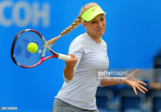 Croatia's Donna Vekic during her quarter final match against Romania's Sorana Cirstea at the AEGON Classic at Edgbaston Priory Birmingham