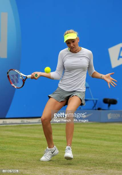 Croatia's Donna Vekic during the final against Slovakia's Daniela Hantuchova during the AEGON Classic at Edgbaston Priory Birmingham