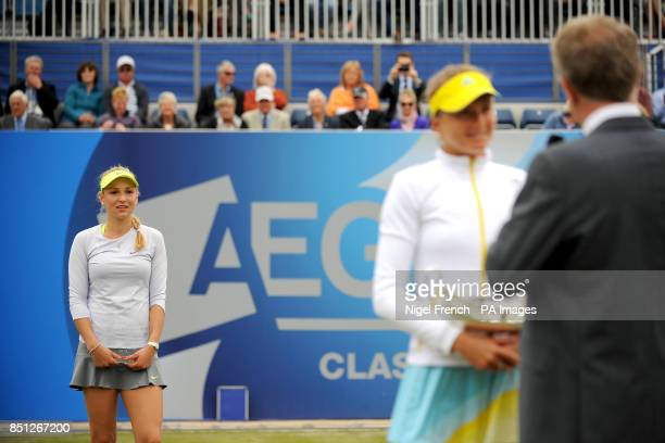 Croatia's Donna Vekic runner up in the 2013 Aegon Classic to Slovakia's Daniela Hantuchova