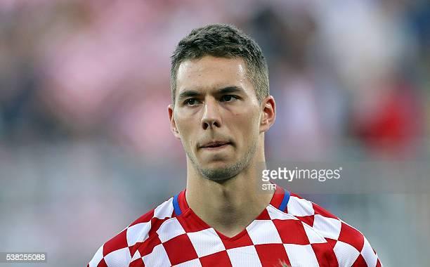 Croatia's forward Marko Pjaca is pictured before before the friendly football match between Croatia and San Marino in Rijeka Croatia on June 4 2016 /...
