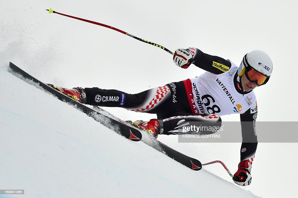 Croatia's Istok Rodes competes during the men's Super-G event of the 2013 Ski World Championships in Schladming, Austria on February 6, 2013.