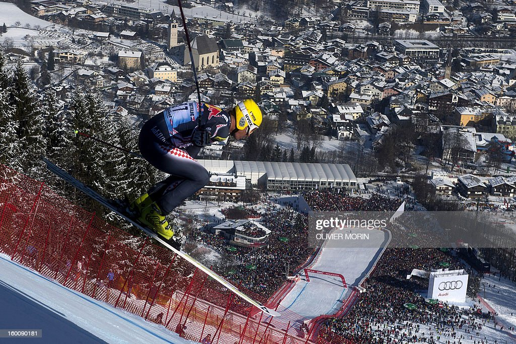 Croatia's Ivica Kostelic competes during the men's World Cup Downhill, on January 26, 2013 in Kitzbuehel, Austrian Alps. Italy's Dominik Paris won the race ahead Canda's Erik Guay and Austria's Hannes Reichelt .