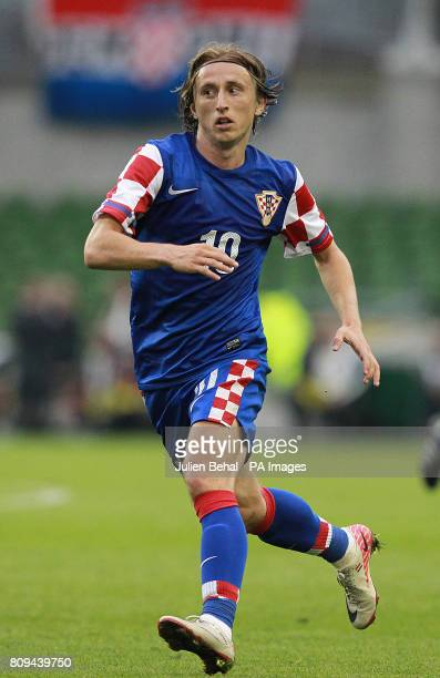 Croatia's Luka Modric during the International Friendly at the Aviva Stadium Dublin