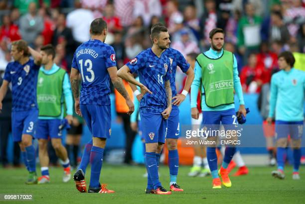 Croatia's Marcelo Brozovic looks dejected after the final whistle