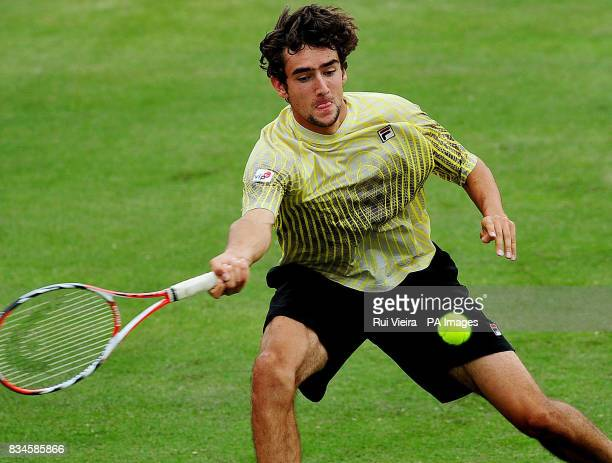 Croatia's Marin Cilic during his singles match against Alex Bogdanovic at the Slazenger Open 2008 at the City of Nottingham Tennis Centre Nottingham