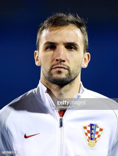 Croatia's midfielder Milan Badelj looks on before the qualification football match between Croatia and Ukraine in Zagreb on March 24 2017 / AFP PHOTO...