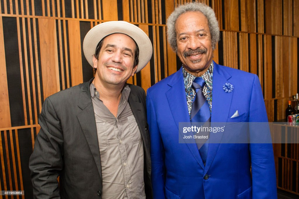 A.J. Croce (L) and Allen Toussaint attend A.J. Croce in Concert at Old U.S. Mint on July 9, 2014 in New Orleans, Louisiana.