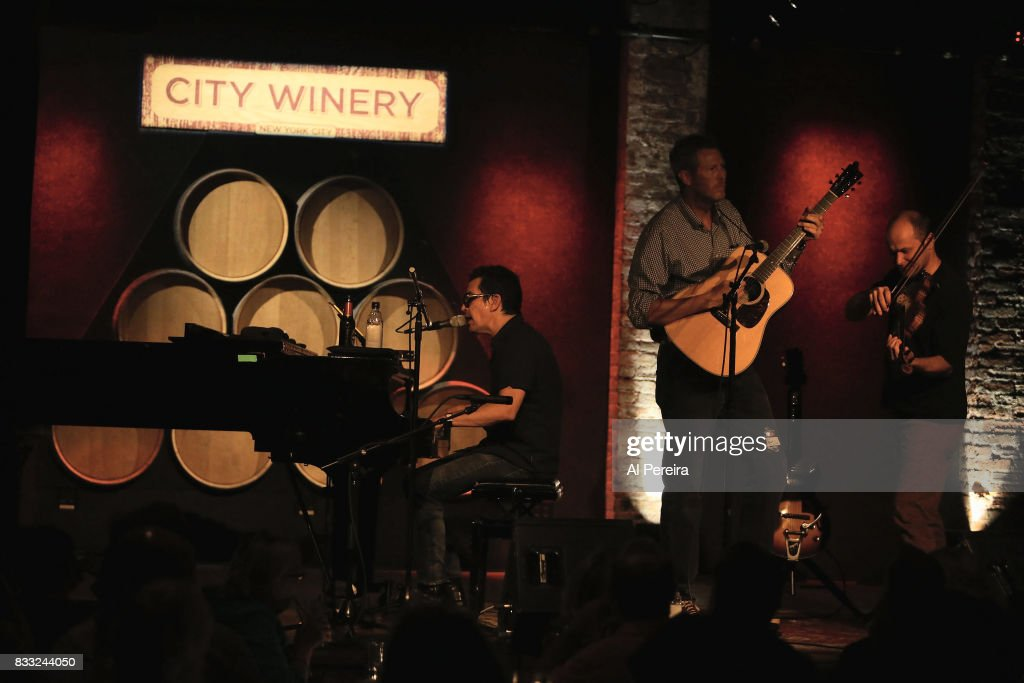 A.J. Croce performs with Robbie Fulks at City Winery on August 16, 2017 in New York City.