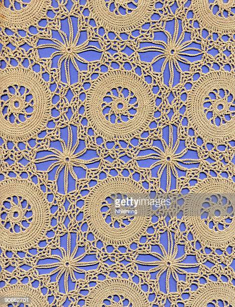 crochet lace ground with circles