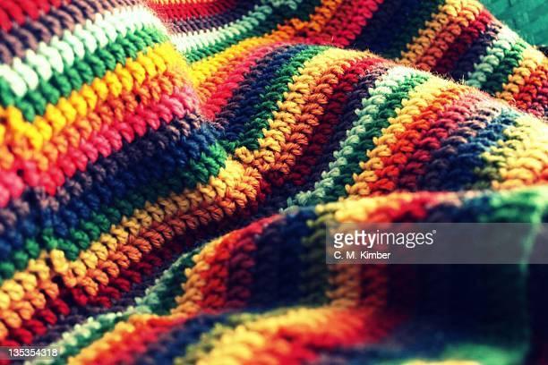 Crocheted blanket terrain