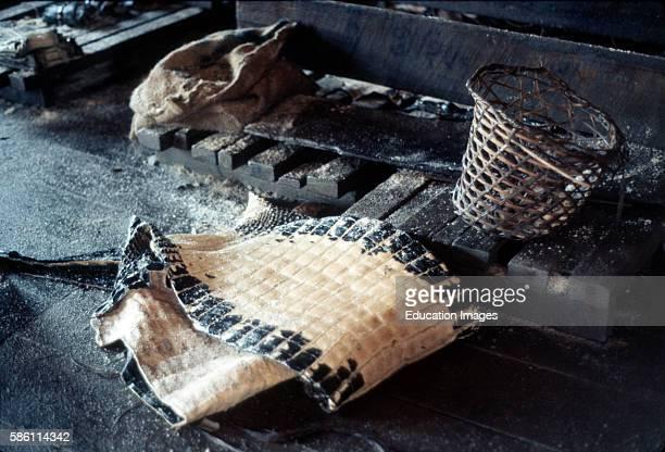 Crocodile skinner Leticia Colombian Amazon 1970