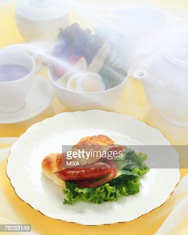 Croissant sandwich : Stock Photo